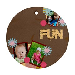 Fun By Jacob   Round Ornament (two Sides)   Ou4i4nrzs2ls   Www Artscow Com Back