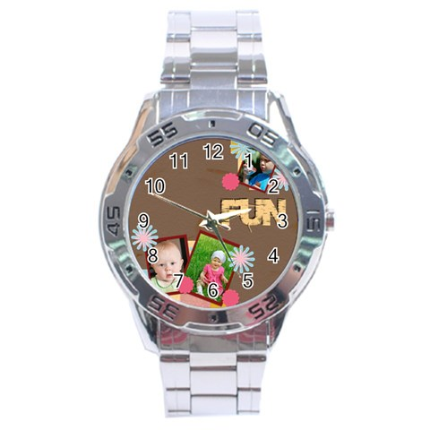 Fun By Jacob   Stainless Steel Analogue Watch   B74s3cs250qe   Www Artscow Com Front