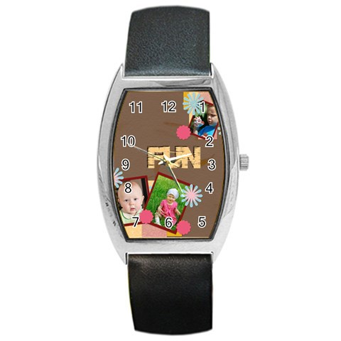 Fun By Jacob   Barrel Style Metal Watch   D72opssujdwa   Www Artscow Com Front