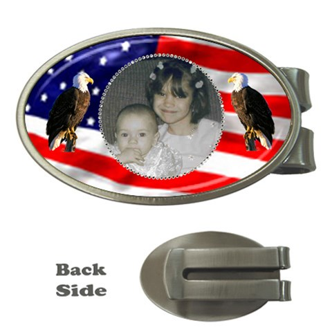 Patriotic Money Clip By Kim Blair   Money Clip (oval)   7ywq3mj6q70g   Www Artscow Com Front