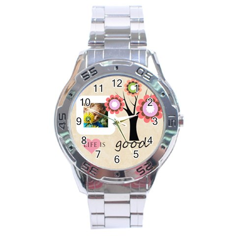 Life Is Good By Jacob   Stainless Steel Analogue Watch   Jt0wu1ngghj0   Www Artscow Com Front
