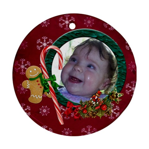 Simplychristmas Vol1   Ornament (round) By Picklestar Scraps   Ornament (round)   Wldsn4383eys   Www Artscow Com Front