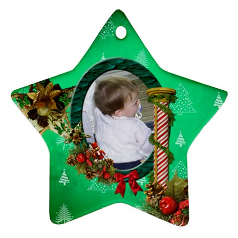 Simplychristmas Vol1   Ornament (star)  By Picklestar Scraps   Ornament (star)   90wnbb7wrvy5   Www Artscow Com Front