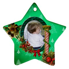 Simplychristmas Vol1   Star Ornament(2 Sides)  By Picklestar Scraps   Star Ornament (two Sides)   G05802v1csob   Www Artscow Com Front