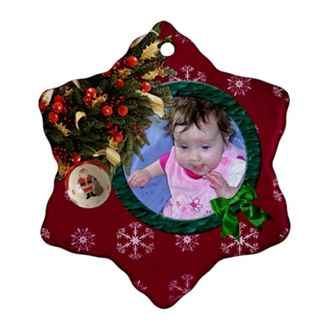 Simplychristmas Vol1   Ornament (snowflake)  By Picklestar Scraps   Ornament (snowflake)   Y6imehn7u5tp   Www Artscow Com Front