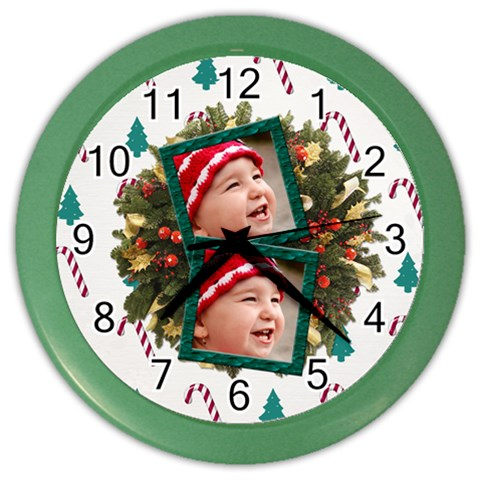 Simplychristmas Vol1   Color Wall Clock  By Picklestar Scraps   Color Wall Clock   P65atjepqthq   Www Artscow Com Front