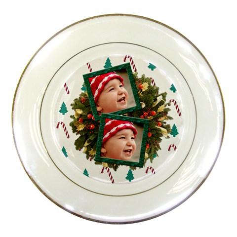 Simplychristmas Vol1   Porcelain Plate  By Picklestar Scraps   Porcelain Plate   K7kgqztm8wkb   Www Artscow Com Front