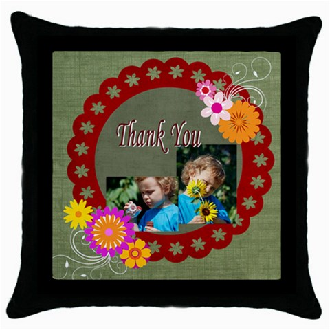 Thank You By Jacob   Throw Pillow Case (black)   R27oc2e6949m   Www Artscow Com Front