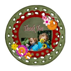 Thank You By Jacob   Round Filigree Ornament (two Sides)   Mfpa98s0pmkt   Www Artscow Com Back