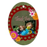 thank you - Ornament (Oval)