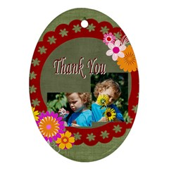 Thank You By Jacob   Oval Ornament (two Sides)   Mpgw68z39ovs   Www Artscow Com Back