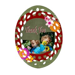 Thank You By Jacob   Oval Filigree Ornament (two Sides)   4jwi8m5wvwr3   Www Artscow Com Front