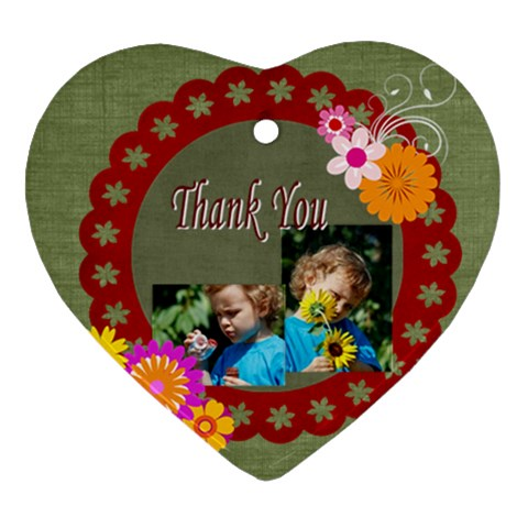 Thank You By Jacob   Ornament (heart)   Tw99akdup8sd   Www Artscow Com Front