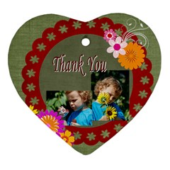 Thank You By Jacob   Heart Ornament (two Sides)   Shucdw819eep   Www Artscow Com Front