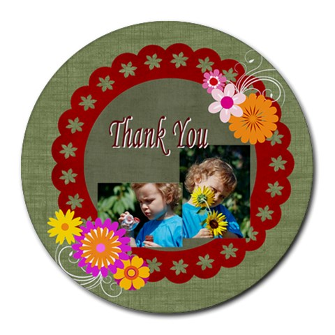 Thank You By Jacob   Round Mousepad   H6kb97us41lj   Www Artscow Com Front