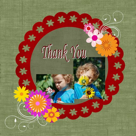 Thank You By Jacob   Scrapbook Page 8  X 8    7qcq7mhy36bu   Www Artscow Com 8 x8 Scrapbook Page - 1