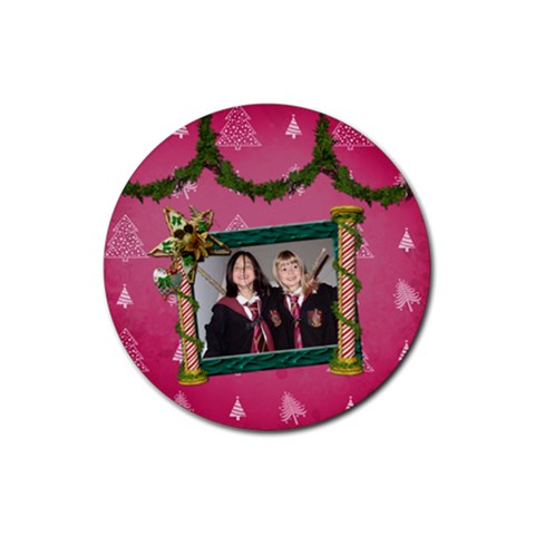 Simplychristmas Vol1   Rubber Coaster(round)  By Picklestar Scraps   Rubber Coaster (round)   Zf4wqs1qqf4r   Www Artscow Com Front