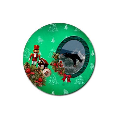 Simplychristmas Vol1   Rubber Round(4pack)  By Picklestar Scraps   Rubber Round Coaster (4 Pack)   Y9sencvx135l   Www Artscow Com Front