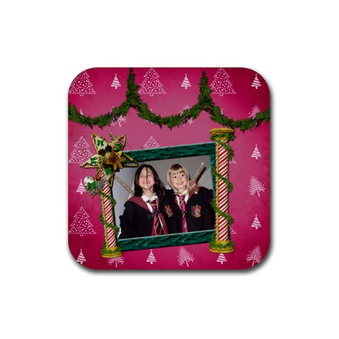 Simplychristmas Vol1   Rubber Coaster(square)  By Picklestar Scraps   Rubber Coaster (square)   Oyht59i1vhru   Www Artscow Com Front
