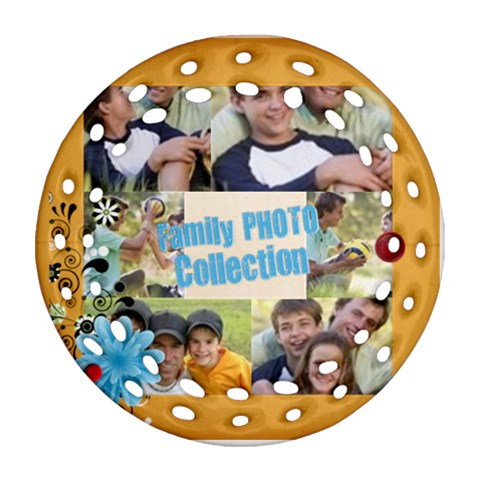 Family By Joely   Ornament (round Filigree)   Expq5ha2gdea   Www Artscow Com Front