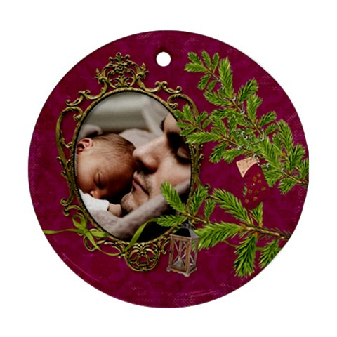 Shabbychristmas Vol1   Ornament(round)  By Picklestar Scraps   Ornament (round)   S3pzathwh5t9   Www Artscow Com Front