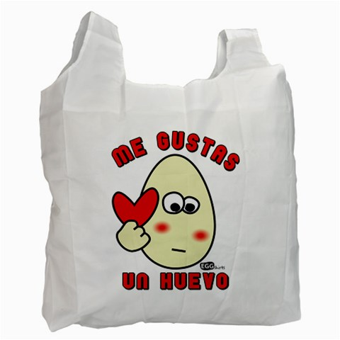 Me Gustas Un Huevo   Bag By Carmensita   Recycle Bag (one Side)   Bkeldijmkmbs   Www Artscow Com Front