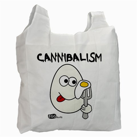 Cannibalism   Bag By Carmensita   Recycle Bag (one Side)   Chuq4jv1152k   Www Artscow Com Front