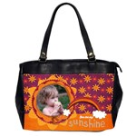 Autumn Rainbow/sunshine-Oversize Office handbag (2 sides)