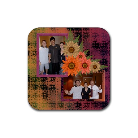 Our Autumn Cruise Coaster By Deborah   Rubber Coaster (square)   G29cxeytf6o4   Www Artscow Com Front
