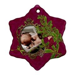 Shabbychristmas Vol1   Snowflake Ornament(2sides)  By Picklestar Scraps   Snowflake Ornament (two Sides)   Ar876nsfntk3   Www Artscow Com Front