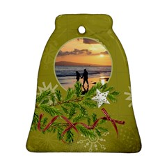 Shabbychristmas Vol1   Bell (2sides)  By Picklestar Scraps   Bell Ornament (two Sides)   Du6h7wrdj790   Www Artscow Com Front