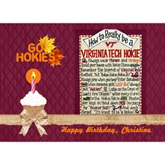 3d Birthday Cake Card Hokie Pride Final By Pat Kirby   Birthday Cake 3d Greeting Card (7x5)   Y770i8fscpfg   Www Artscow Com Front