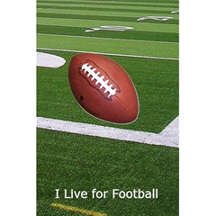 Football Notebook By Kim Blair   5 5  X 8 5  Notebook   9fiv49bhb5sy   Www Artscow Com Front Cover