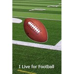 Football Notebook - 5.5  x 8.5  Notebook