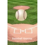 Baseball notebook - 5.5  x 8.5  Notebook