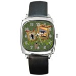ShabbyChristmas Vol1 - Square Metal Watch