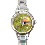 ShabbyChristmas Vol1 - Round Italian Watch  - Round Italian Charm Watch