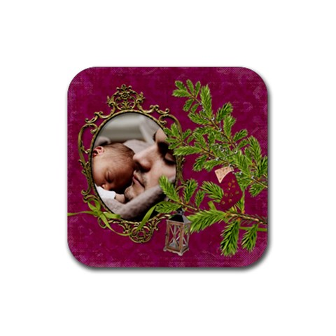 Shabbychristmas Vol1   Rubber Square(4pack)  By Picklestar Scraps   Rubber Square Coaster (4 Pack)   H1yqdoxl7503   Www Artscow Com Front
