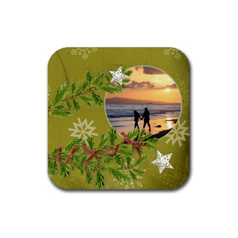 Shabbychristmas Vol1   Rubber Square(4pack)  By Picklestar Scraps   Rubber Square Coaster (4 Pack)   Ndq9rd5br8h3   Www Artscow Com Front