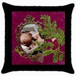 ShabbyChristmas Vol1 - Throw Pillow Case  - Throw Pillow Case (Black)