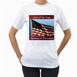 land of the free T-Shirt - Women s T-Shirt (White) (Two Sided)