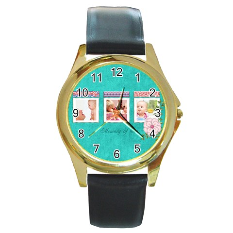 Baby By Joely   Round Gold Metal Watch   E9ant5gjej40   Www Artscow Com Front