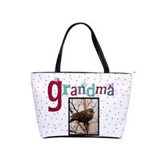 Pink Polka Dot Handbag By Missy    Classic Shoulder Handbag   E1qircwyemph   Www Artscow Com Front