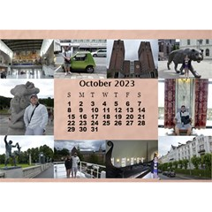 Our Travels Desktop 8 5x6  Calendar By Deborah   Desktop Calendar 8 5  X 6    881clnqpm53v   Www Artscow Com Oct 2018