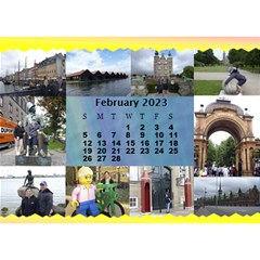 Our Travels Desktop 8 5x6  Calendar By Deborah   Desktop Calendar 8 5  X 6    881clnqpm53v   Www Artscow Com Feb 2018