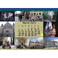 Our Travels Desktop 8 5x6  Calendar By Deborah   Desktop Calendar 8 5  X 6    881clnqpm53v   Www Artscow Com Mar 2018