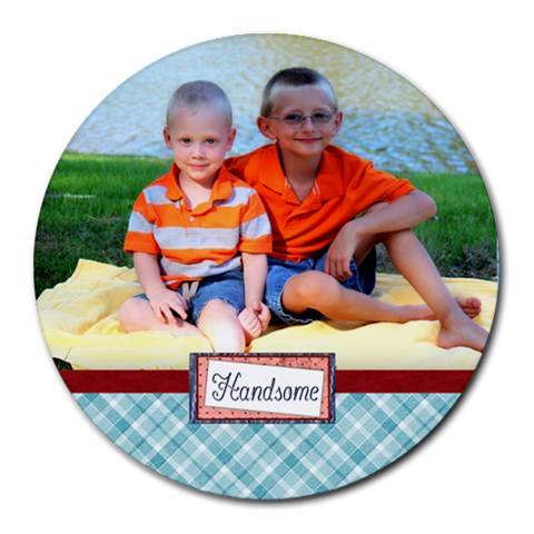 Stef Round Mousepad By Charity Howard   Collage Round Mousepad   0cc42pz0z2ai   Www Artscow Com 8 x8 Round Mousepad - 1