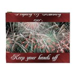 Fireworks on black Cosmetic bag (XL)