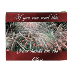Fireworks On Black Cosmetic Bag (xl) By Kim Blair   Cosmetic Bag (xl)   E0zpgiu7f55v   Www Artscow Com Back