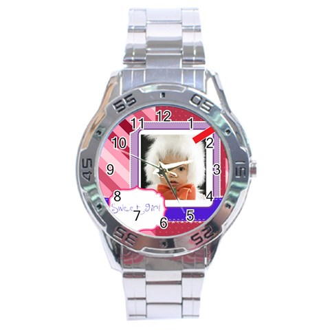 Sweet By Mac Book   Stainless Steel Analogue Watch   Wqyj5jn55zx0   Www Artscow Com Front